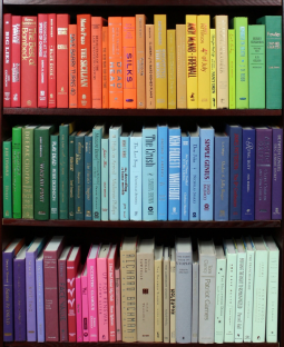 Color coordinated book spines